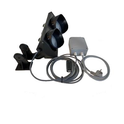 E.B.T.C. - Verkeerslicht met 2 lenzen Plug & Play met handzender